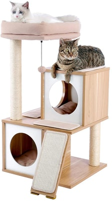 House of Pets Delight Luxury Cat Tree With Double Condo - Beige