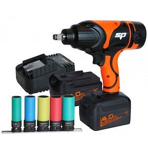 "SP81127 Impact Wrench Kit Cordless 18v 1/2""Dr 4.0Ah Max Li-Ion SP81127"