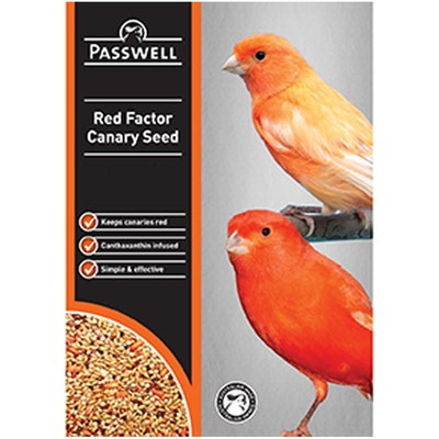 PASSWELL Red Factor Canary Seed With Canthaxanthin - 3 Sizes
