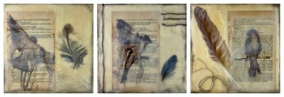 Tracy Stirzaker My Inner Canary Taking Flight - Original Artwork 2020