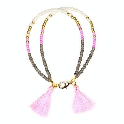Global Sisters Shop Sofia Tassel Bracelet - Pink