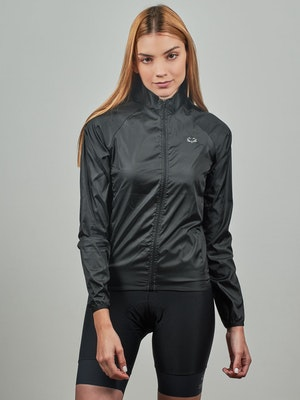 Taba Fashion Sportswear Chaqueta Ciclismo Mujer Cortaviento Negra