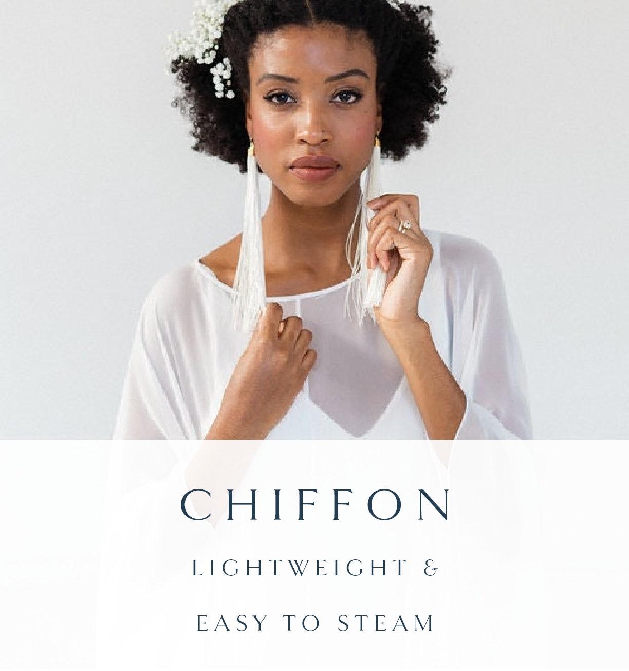 chiffon wedding dress fabric