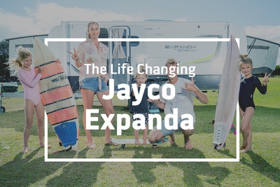 Wes Berg living life to the fullest with a Jayco Expanda