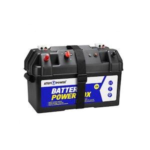 12V Portable Battery Box Deep Cycle Universal Camping Large Marine