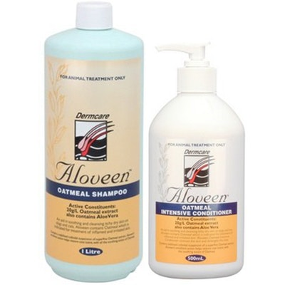 Aloveen Oatmeal Dermcare Sensitive Skin Dog/Cat Shampoo 1L + Conditioner 500ml