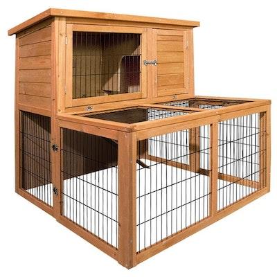 Deluxe Wooden Premium Rabbit/Guinea Pig Cage/Hutch- 100cm