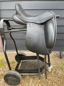 """Custom Icon Coda 17"""" dressage saddle 2020"""