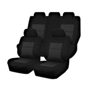 Premium Car Seat Covers For Mitsubishi Outlander Zj-Zk-Zl Series 2012-2020 4X4 Suv/Wagon | Black