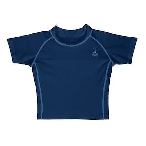 i play. Short Sleeve Rashguard Shirt-Navy
