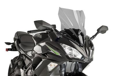 Kawasaki Ninja 650 2017-2019 Puig Racing Screen (Light Smoke)