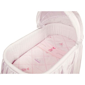 Babyhood Amani Bebe  3pce Bassinet Sheet Set - Ballerina Princess