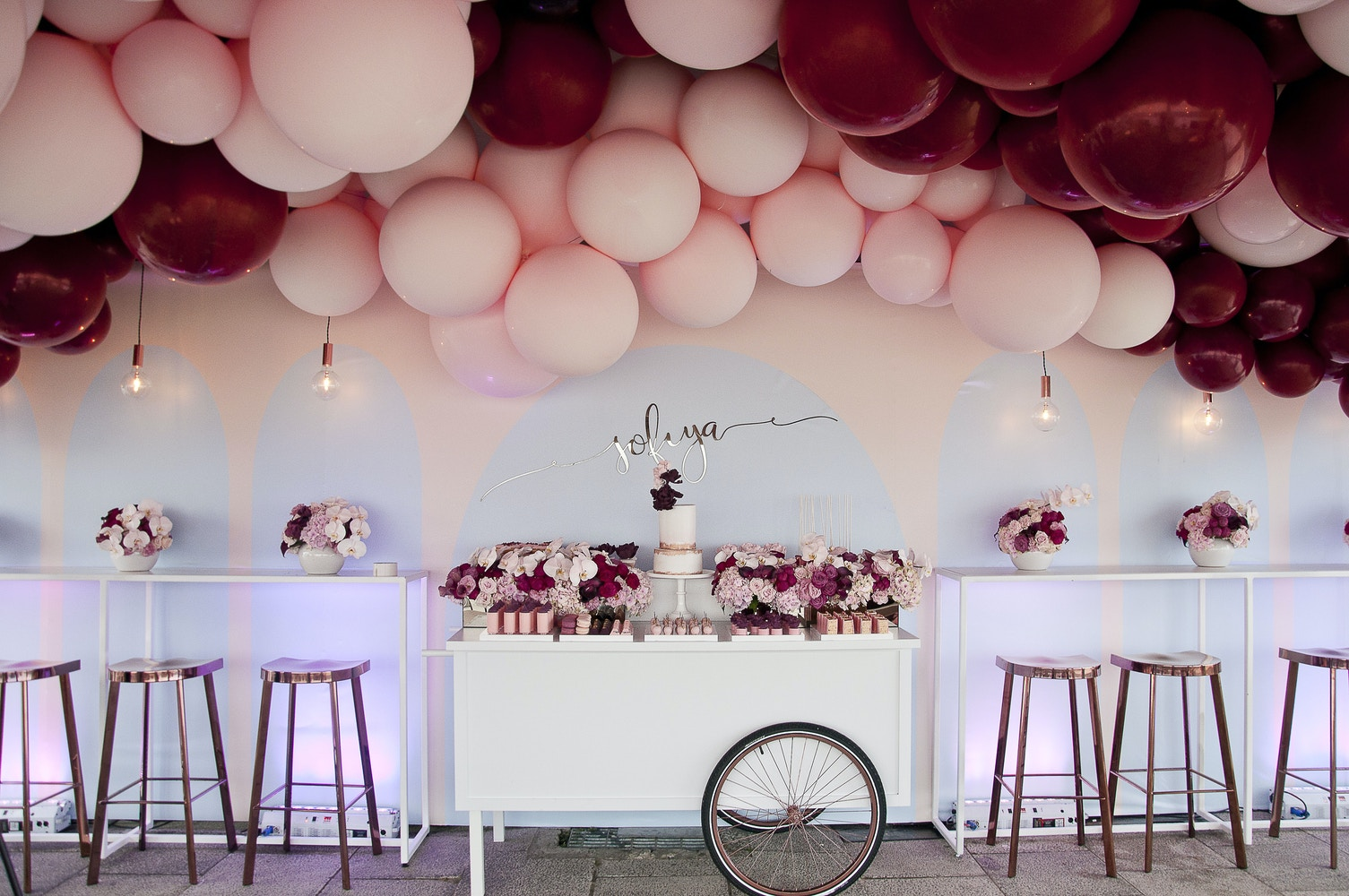 Balloon Filled First Birthday - Girls 1st Birthday Ideas | LENZO