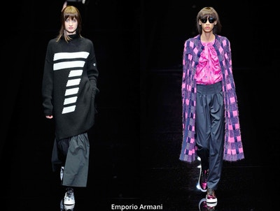 Geometric trends Fall/Winter at Milan fashion week