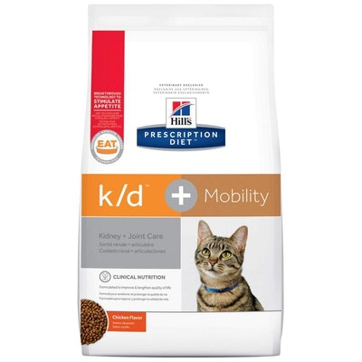 Hill's VET Hill's Prescription Diet K/D Kidney Care & Mobility Dry Cat Food 2.88kg