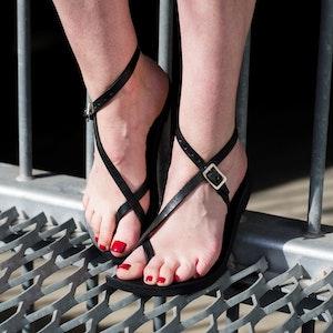 Venus - Adjustable Leather Sandal, choice of Size & Colour, Pointed or Round Toe Shape, Strap Sandal, Ankle Strap, Minimalist Women's Sandal