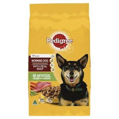 Pedigree Adult Working Dog Beef 20kg