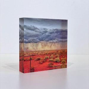APPROACHING STORM - Acrylic Desk Block