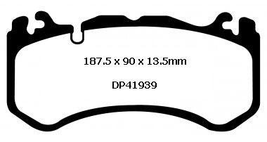 EBC YELLOW STUFF BRAKE PADS for MERCEDES-BENZ W204 C63 2008-2015 DP41939