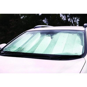 Premium Sun Shade - Large [150cm x 70cm] - White/Silver