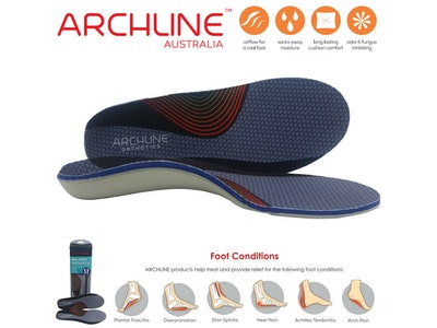 Boutique Medical ARCHLINE Orthotics Insoles Balance Full Length Arch Support Medical Pain Relief