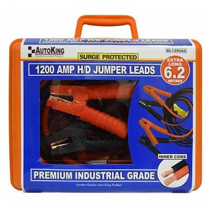 Jumper Leads Anti-Zap 6.2m Booster Cables 1200amp BL1200AZ