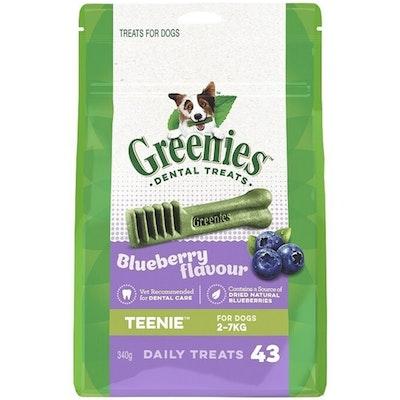 Greenies Blueberry Flavour Teenie Dogs Dental Treats 2-7kg 340g