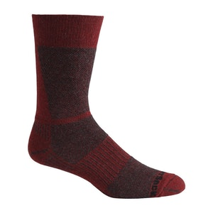 Wrightsock Blister-free Eco Lite Hike - Crew Socks - Black/Red