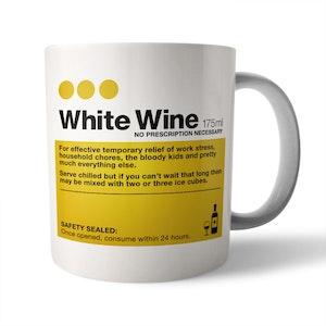 White Wine Ceramic Mug