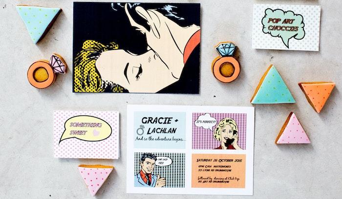 Pop Art Engagement Invitation | LENZO