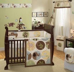 Babyhood Lambs N Ivy Habitat 4 Piece Bedding Sets – 100% Organic