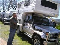 Albury-Wodonga Border RV & Camping Expo pulls on gumboots in heavy weather test