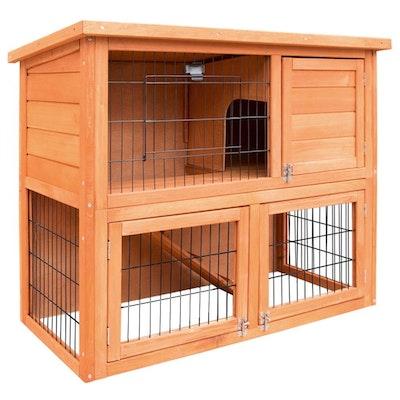 Deluxe Wooden Premium Rabbit/Guinea Pig Cage/Hutch- 93cm