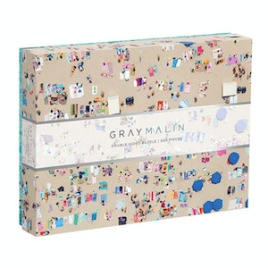 500 Piece Double - Sided Puzzle | Gray Malin Beach