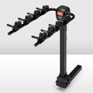 """SAN HIMA 4 Bicycle Carrier 2"""" Hitch Mount Steel Foldable"""
