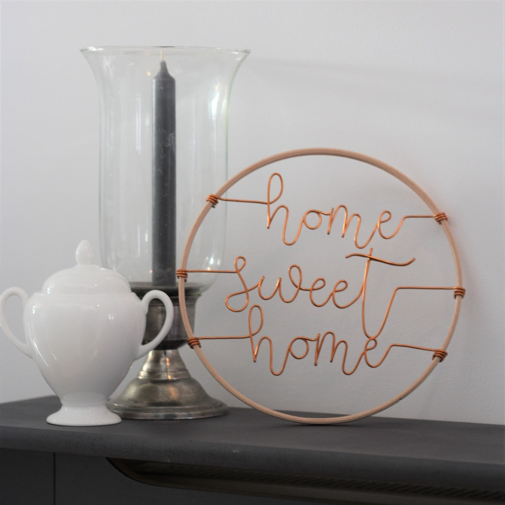 """Wired Mama """"home Sweet Home"""" Decorative Typography Hoop"""