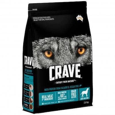 CRAVE Adult Salmon & Ocean Fish Dry Dog Food 2.8kg