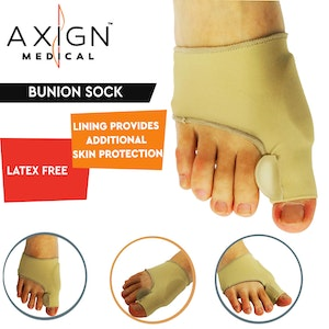 Boutique Medical 1 Pair Axign Medical Grade Bunion Sock Joint Pain Support Sleeve Separator