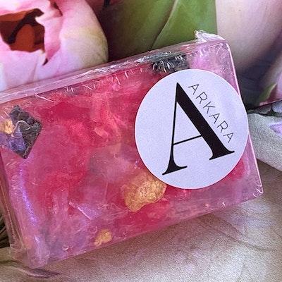 Arkara Cleanse - Inner Nature Pink Rose Quartz Soap