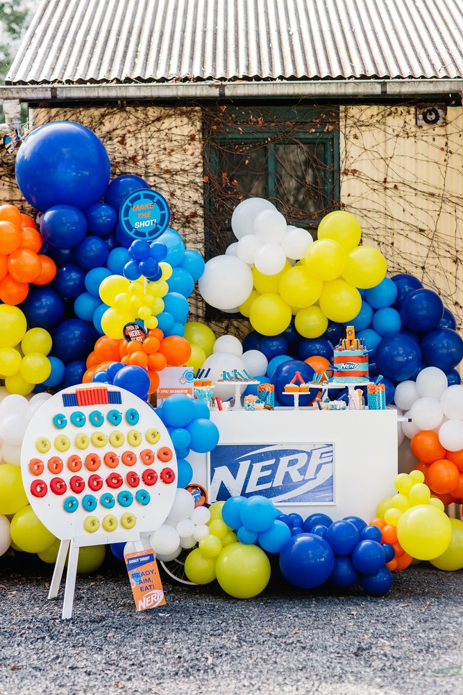 How to host a NERF themed kids birthday party