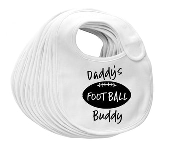 Daddy's Football Buddy Bib
