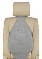 Universal Air Filled Multi Purpose Lumbar Back Support | Suede Grey