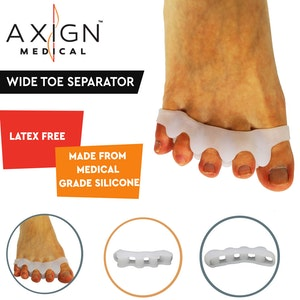 Boutique Medical 1 Pair Axign Wide 5 Toe Separator Medical Silicone Bunion Pain Relief Spacer