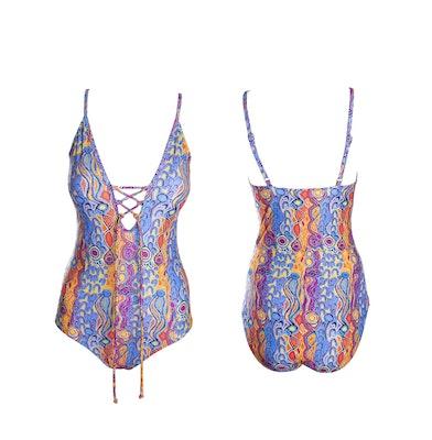 Native Swimwear Australia Pty Ltd Snake Vine Women's Lace Up One Piece Swimsuit