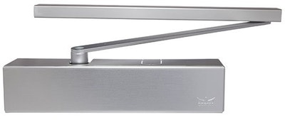 dormakaba TS93B heavy duty door closer EN1-5 with slide arm (Pull side) in silver
