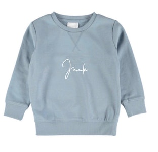 Personalised Name Sweater Powder Blue - Fancy Font