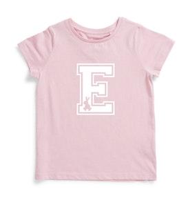Personalised Varsity Easter Tee - Pink