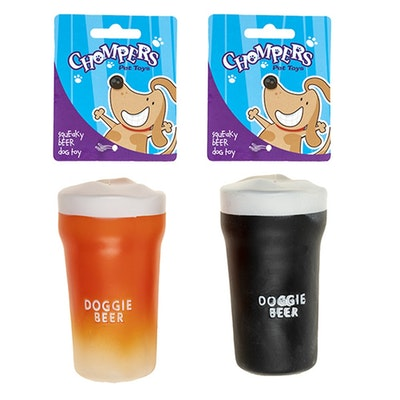 Chompers Dog Toy - Squeaker Doggie Beer