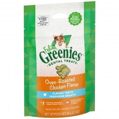 Greenies Oven Roasted Chicken Feline Dental Cat Treats 60G