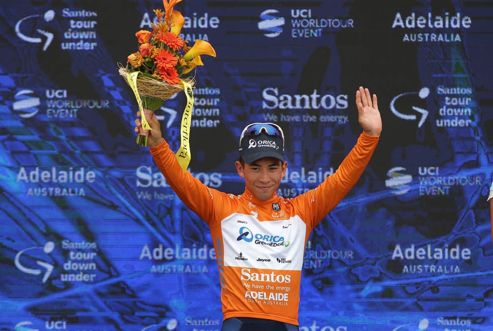 fullpage Caleb Ewan Podium